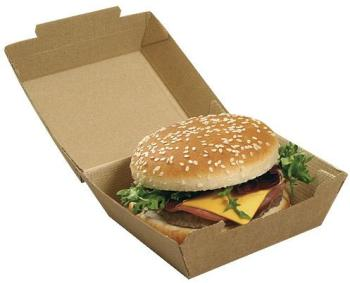 Boite hamburger kraft brun