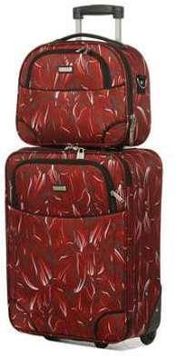 Ensemble valise et vanity souple Madisson Versailles Fleurs rouges JGAn3ldZM