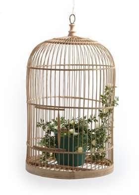 Cage à oiseaux en bambou H60cm