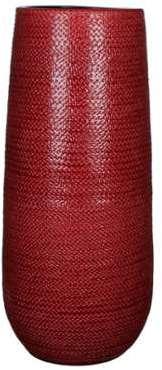 Grand vase en céramique rouge