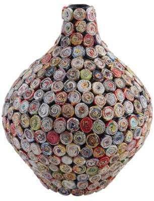Vase boule en papier recyclé