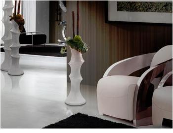 Vase Design Bambou Blanc 91cm