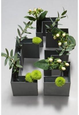 6 Petits Vases Ecart gris