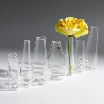Vase verre 7 vases forme cone