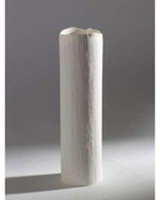 Vase en porcelaine effet strié