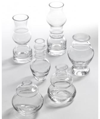 6 Vases Soliflores Transparents