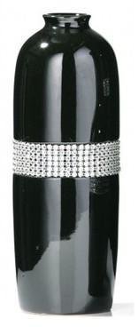 Vase design noir avec strass
