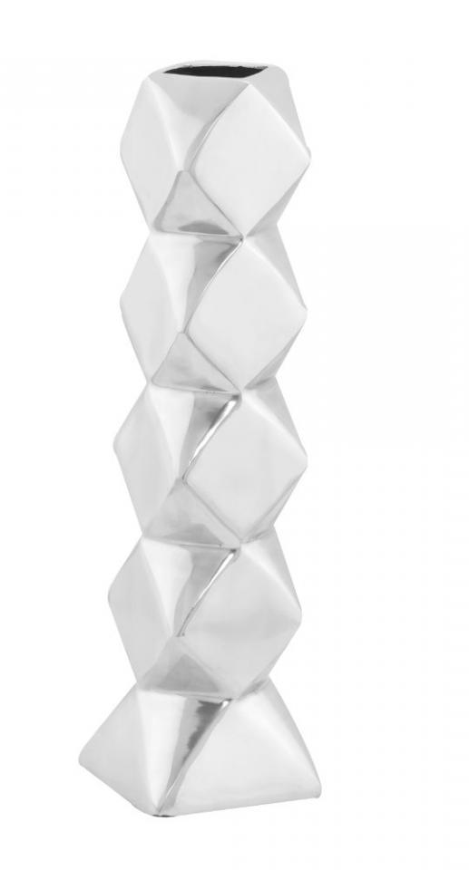Vase design aluminium poli