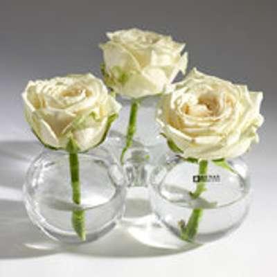 Vase boule en verre trio solifleur