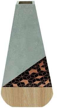 Potiron - Vase Mada gris cuivre