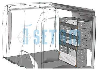 Kit aménagement Doblo L1 métallique