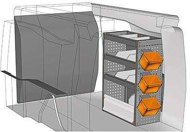 Kit aménagement Berlingo métallique