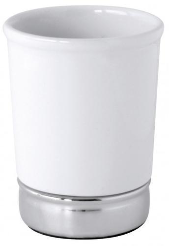 Gobelet blanc en grès Blanc