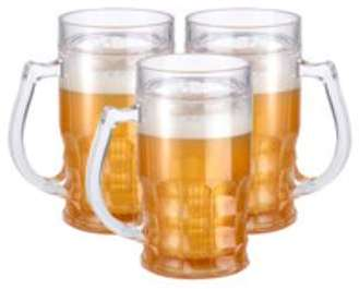 3 chopes de bière rafraîchissantes