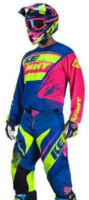 Tenue Cross Kenny Track Bleu