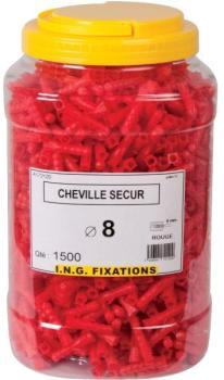 Cheville à expansion rouge
