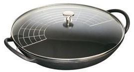 Wok staub 30 cm noir couvercle