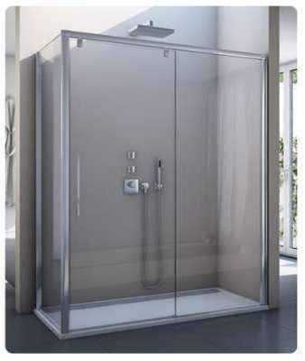 Paroi de douche aumea 3 volets 800032 - Porte de douche coulissante 3 volets ...