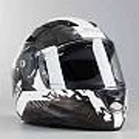 Casque Intégral Ls2 Ff320 Stream Evo Hype Blanc Noir Et Titanium