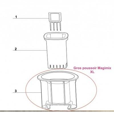 Cuve de boulanger pour robot 3200xl 17013 magimix - Robot cuisine boulanger ...