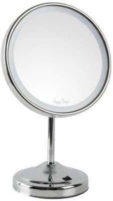Vidaxl miroir en fer sur pied noir for Beurer miroir lumineux bs49