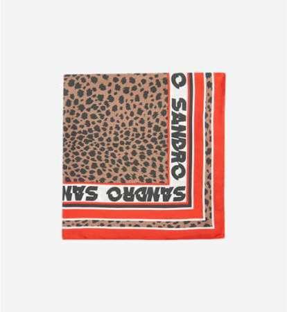 07506107b2bf Carré en soie à imprimé léopard