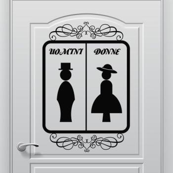 Stickers porte wc beautiful daorier toilette autocollant for Autocollant porte wc