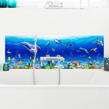 Mimi Sticker frise murale en vinyl multicolore Bateaux