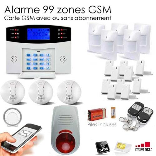 Kit alarme 32 zones xxxl box et camera ip securitegooddeal for Alarme maison sans fil fr