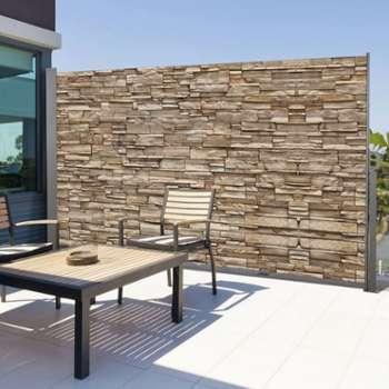 vidaxl paravent lat ral noir 160 x 300 cm. Black Bedroom Furniture Sets. Home Design Ideas