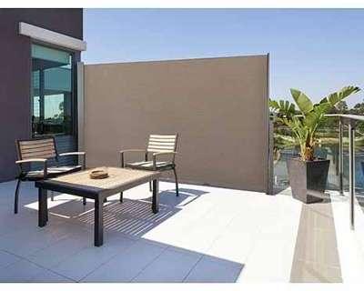 Vidaxl paravent lat ral noir 160 x 300 cm - Paravent retractable pour terrasse ...