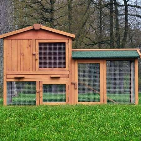 vidaxl cage clapier ext rieur en bois pour lapins 3 porte. Black Bedroom Furniture Sets. Home Design Ideas
