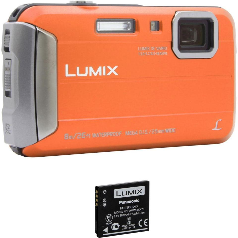 appareil photo compact panasonic dmc ft30 orange 2me batterie. Black Bedroom Furniture Sets. Home Design Ideas