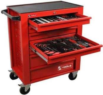 Vidaxl c chariot servante datelier charge 100 kg rouge - Servante d atelier complete ...