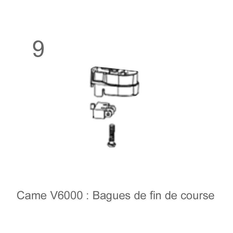 Kit complet v6000 motorisation porte de garage came for Piece detachee motorisation porte de garage