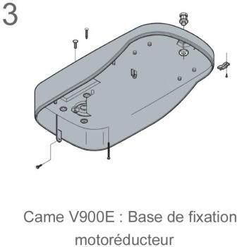 Came kit v900e motorisation porte de garage for Motorisation porte de garage came v900e