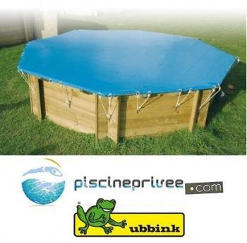 Nortland piscine bois super tonga ubbink allong e en kit 8 for Bache hiver piscine bois
