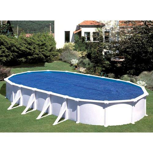 Gre liner bleu uni 40 100 piscine hors sol gr ronde for Bache liner pour piscine