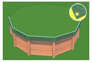 Ubbink piscine ocea 470x860 for Bache bassin verte