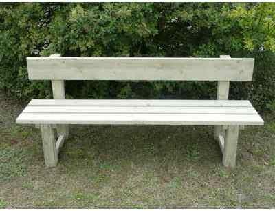 Catgorie banc de jardin du guide et comparateur d 39 achat - Banc en bois avec dossier ...
