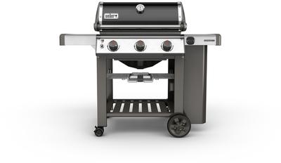 barbecue gaz ii e 310 en acier noir 3 brleurs genesis gbs sans housse. Black Bedroom Furniture Sets. Home Design Ideas