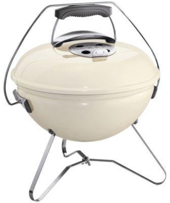 barbecue charbon nomade 4 personnes diamtre 37cm smokey joe premium blanc crme sans housse