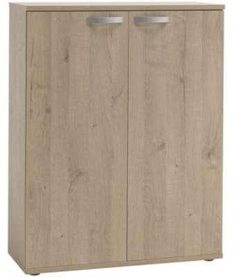 Bureau 109x59x75cm coloris acacia et blanc for Meuble de rangement pour bureau
