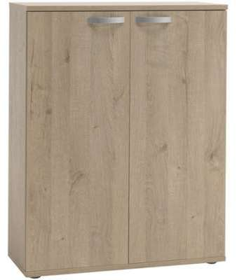 Bureau 109x59x75cm Coloris Acacia Et Blanc