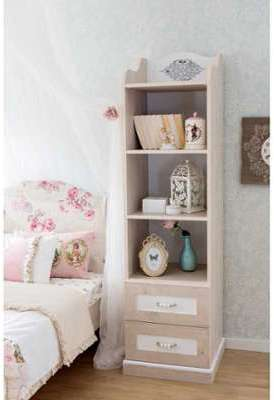 someo ensemble commode biblioth que etag re blanc et lil. Black Bedroom Furniture Sets. Home Design Ideas
