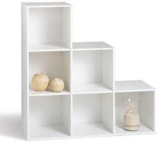 Meuble Rangement Escalier meuble de rangement escalier 10 compartiments blanc - arcos