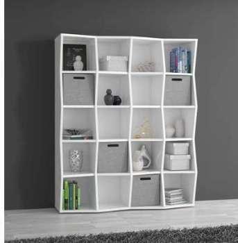 conforama etag re biblioth ques blanche portes noires. Black Bedroom Furniture Sets. Home Design Ideas