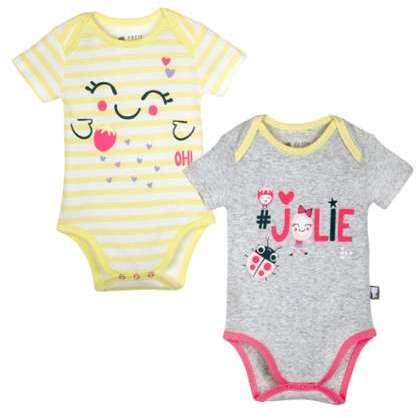 Lot de 2 bodies manches longues bébé fille Dinette - Taille - 3 mois  (62  cm ) Petit Béguin 0a8c9c2a2d4