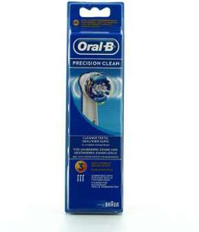 Brossettes x3 pr cision clean oral b de braun eb20x3 - Brossettes oral b precision clean ...
