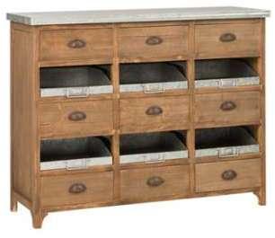 Semainier style scandinave en bois 5 tiroirs 40x25x825 for Bahut japonais